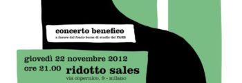 (Italiano) Concerto benefico –  Teatro Ridotto Sales,